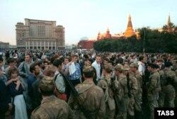 Манежна площа, Москва. 20 серпня 1991 року