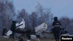Обломки самолета в аэропорту Казани, 18 ноября 2013 г.