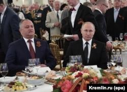 Игорь Додон в гостях в Владимира Путина в Москве. Май 2017 года