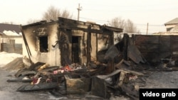 Сгоревшая времянка, в которой погибли пять сестер Ситер. Астана, 4 февраля 2019 года.