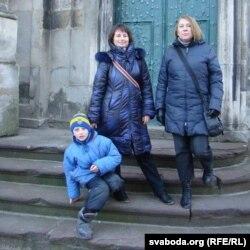 Натальля з сынам у Львове, сьнежань 2015-га