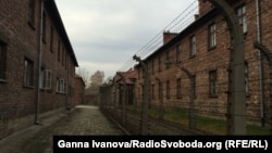 Вид на бывший лагерь смерти Освенцим.