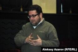 Журналист әрі құқық қорғаушы Андрей Свиридов. Алматы, 27 ақпан 2014 жыл.