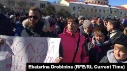 Ռուսաստան - «Յադրովո» աղբավայրի դեմ բողոքի հերթական ցույցը Վոլոկոլամսկում, 24-ը մարտի, 2018թ․