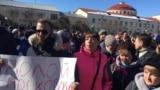 24-nji martda Moskwanyň ortaça 100 kilometr günbatarynda ýerleşýän Wolokolamskda 1000 çemesi adam ýene protest geçirdi.