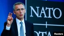 Генеральный секретарь НАТО Йенс Столтенберг. Брюссель, 10 февраля 2016 года.