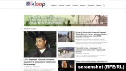 Скриншот сайта Kloop.kg.