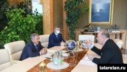 Встреча Михаила Меня и Рустама Минниханова в июле 2020 года в Казани