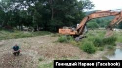 Русло реки Бурульча, Белогорский район Крыма