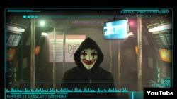 Скриншот видео украинского «хактивиста», ведущего «кибервойну» с Кремлем.
