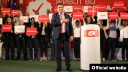 Mandatar Zoran Zaev na kongresu SDSM-a 27. maja