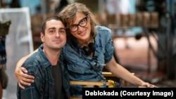 Jasmila Zbanic (right), the director of Bosnian war drama Quo Vadis, Aida?