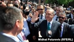 رجب طيب اوردغان رئيس جمهور ترکيه در سارایوو، مه ۲۰۱۵