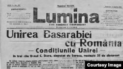 """""""Lumina"""" (Foto: I. Țurcanu, M. Papuc, Basarabia în actul Marii Uniri de la 1918)"""