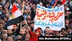 Демонстрация в Каире, февраль 2013 года.