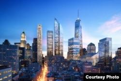 Так будет выглядеть восстановленный Всемирный торговый центр. Строительство планируется завершить в 2018 году