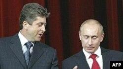 Președintele Georgi Parvanov și premierul Rusiei, Vladimir Putin la Sofia