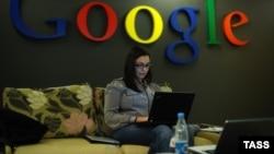 В офисе компании Google в Москве.