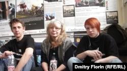 Участники московской голодовки в поддержку Олега Шеина, 20 апреля 2012