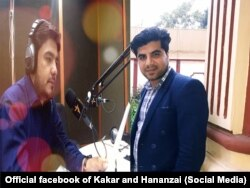 Sabawoon Kakar (çepde) we Abadullah Hananzaýi