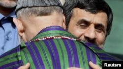 محمود احمدی نژاد و حامد کرزی