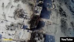 Вид на разрушенный аэропорт Донецка. 15 января 2015 года.
