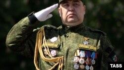 Игорь Плотницкий на параде 9 мая 2016 года в Луганске