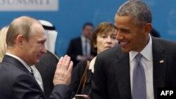 Presidenti i SHBA-së, Barack Obama dhe homologu i tij rus, Vladimir Putin.