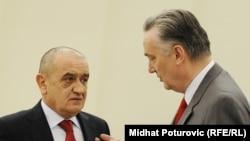 Novi predsjedavajući Savjeta ministara Vjekoslav Bevanda i kandidat za ministra spoljnih poslova Zlatko Lagumdžija, januar 2011.
