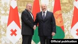 Аляксандар Лукашэнка і Гіёргі Маргвэлашвілі