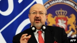 Georgia -- OSCE Secretary-General Lamberto Zannier speaks during a news conference in Tbilisi, March 9, 2015