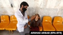 The latest vaccination campaign is intended to target tens of millions of children under the age of five. (file photo)
