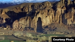 The site of the Bamiyan Buddhas in the Bamiyan Valley