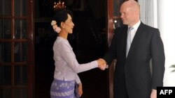 Myanmar's Aung San Suu Kyi met with British Foreign Secretary William Hague during his early-January visit to Yangon (pictured), following a meeting in December between Suu Kyi and U.S. Secretary of State Hillary Clinton.