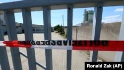 Locul în care azilantul cecen a fost ucis într-o suburbie a Vienei