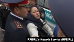 Dozens of people were detained during protests in March against plans to rename the capital after former President Nursultan Nazarbaev.