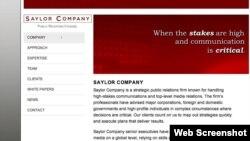 Почти сразу после окончания войны 2008 года американская Saylor company стала помогать представителям югоосетинского де-факто правительства и местным правозащитникам продвигать в Соединенных Штатах свою версию конфликта