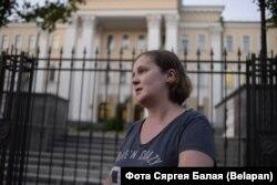 Жанна Калыгіна пасьля вызваленьня 9 жніўня