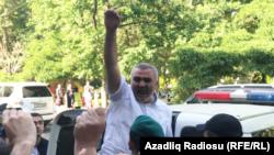Ադրբեջան - Լրագրող Աֆգան Մուխթարլիին բերում են դատարան, Բաքու, 29-ը մայիսի, 2017թ․