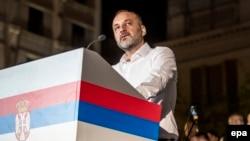 Saša Jaković na predizbornom skupu u Beogradu
