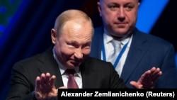 """Владимир Путин на форуме """"Деловая Россия"""" в Москве, 6 февраля 2019"""