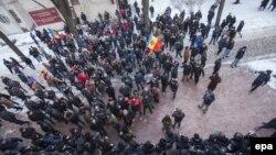 Молдова -- Парламент алдындагы акция.