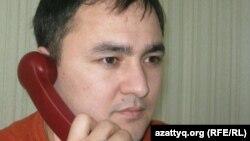 «Азат» ЖСДП-ның Ақтөбе облыстық филиалының төрағасы Мирамбек Камалов, Ақтөбе, 12 қаңтар 2012 ж.