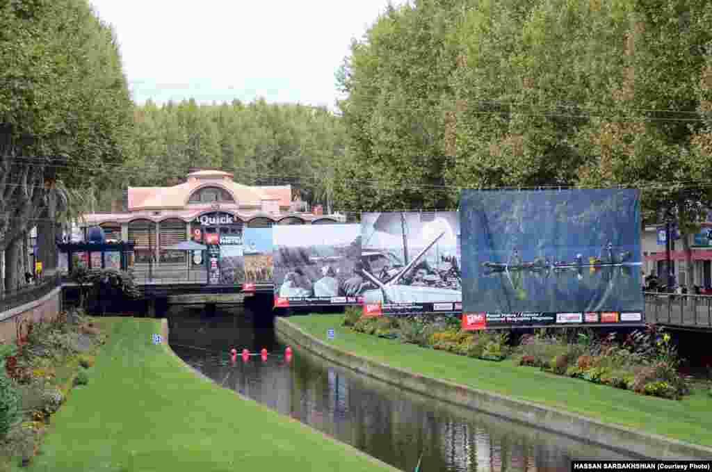 تبلیغات مرتبط با جشنواره در سطح شهر پرپینیان