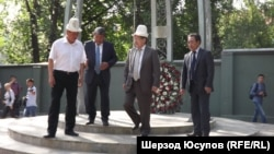 Kyrgyz officials take part in events to remember the bloodshed of 2010.