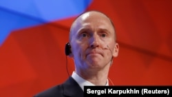 One-time adviser to U.S. President Donald Trump Carter Page (file photo)
