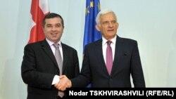 После короткой встречи с грузинскими депутатами председатель Европейского парламента провел совместную пресс-конференцию со спикером парламента Грузии