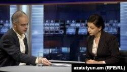 Левон Зурабян в студии «Азатутюн ТВ» (архив)