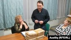 Дмитрий Казанков сайлау урынында, 4 март 2012