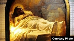 "Карл Брюллов. ""Христос во гробе"". Фрагмент картины"